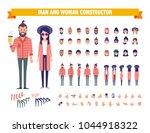 young man and woman character... | Shutterstock .eps vector #1044918322