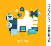 social media concept. vector... | Shutterstock .eps vector #1044919132