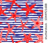 Sea Stars Seamless Pattern....