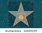 hollywood walk of fame ... | Shutterstock .eps vector #10449259