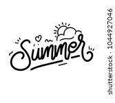 summer lettering poster template | Shutterstock .eps vector #1044927046