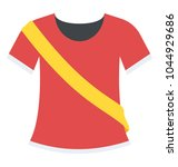contestant shirt used to... | Shutterstock .eps vector #1044929686