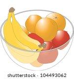 fruit bowl | Shutterstock .eps vector #104493062