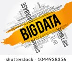 big data word cloud collage ... | Shutterstock .eps vector #1044938356