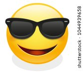 sunglasses expression emoji... | Shutterstock .eps vector #1044939658