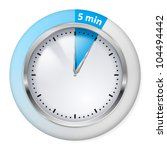 blue timer icon. five minutes.... | Shutterstock .eps vector #104494442