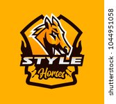 colorful emblem  badge  logo ... | Shutterstock .eps vector #1044951058
