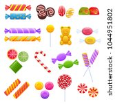 set of sweet chocolates ... | Shutterstock .eps vector #1044951802