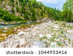 mountain forest river canyon... | Shutterstock . vector #1044953416