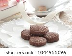 Small photo of Homamade chocolate and almond cookie