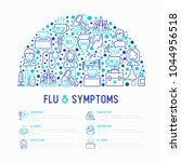 flu and symptoms concept in... | Shutterstock .eps vector #1044956518