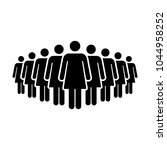 people icon vector group of... | Shutterstock .eps vector #1044958252