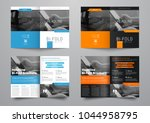 design a bi fold brochure with... | Shutterstock .eps vector #1044958795