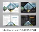 template of the bi fold... | Shutterstock .eps vector #1044958798