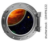 illustration of a ship porthole ... | Shutterstock . vector #104496122