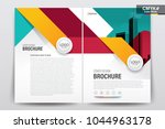 front and back cover of a... | Shutterstock .eps vector #1044963178