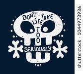 vector inspirational print with ... | Shutterstock .eps vector #1044973936
