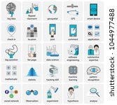 data science icons  including... | Shutterstock .eps vector #1044977488