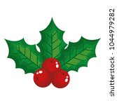leafs and seeds christmas... | Shutterstock .eps vector #1044979282