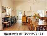 interior of a large country... | Shutterstock . vector #1044979465