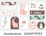 set cute ready to use gift tags ... | Shutterstock .eps vector #1044979552