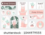 set cute ready to use gift tags ... | Shutterstock .eps vector #1044979555