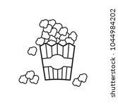 popcorn icon in trendy flat... | Shutterstock .eps vector #1044984202
