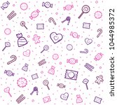 candy and sweets pattern with...   Shutterstock .eps vector #1044985372