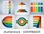 set of infographic banners with ... | Shutterstock .eps vector #1044986035