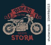 vintage motorcycle hand drawn t ... | Shutterstock .eps vector #1044986515
