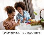 beautiful african american... | Shutterstock . vector #1045004896