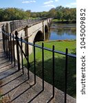 Small photo of Detail of guard rail on seven-arched Monocacy aqueduct, longest aqueduct on the Cumberland and Ohio Canal, Frederick County, Maryland, USA