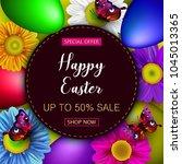 easter sale banner background... | Shutterstock .eps vector #1045013365