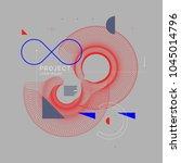 trendy abstract art geometric... | Shutterstock .eps vector #1045014796