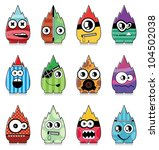 set of twelve monsters | Shutterstock .eps vector #104502038
