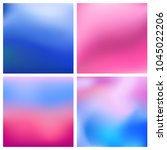 abstract vector blue pink...   Shutterstock .eps vector #1045022206
