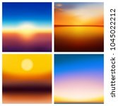 abstract vector nature blurred...   Shutterstock .eps vector #1045022212