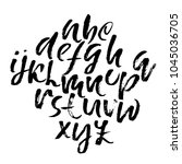 handdrawn dry brush font.... | Shutterstock .eps vector #1045036705