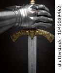 a beautiful ancient sword of... | Shutterstock . vector #1045039462