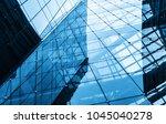 geometric structure glass... | Shutterstock . vector #1045040278