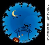 raster halloween theme... | Shutterstock . vector #104504072