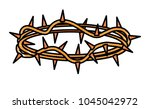 crown of thorns icon | Shutterstock .eps vector #1045042972
