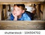 Unhappy Child Hiding And...