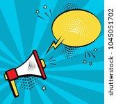 megaphone and speech bubble on...   Shutterstock .eps vector #1045051702