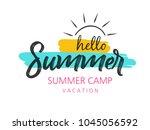 summer season banner or flyer... | Shutterstock .eps vector #1045056592