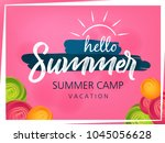 summer season banner or flyer... | Shutterstock .eps vector #1045056628