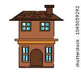 residential house design | Shutterstock .eps vector #1045059292