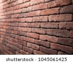 brick wall closeup angle | Shutterstock . vector #1045061425