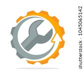 logo icons with improved... | Shutterstock .eps vector #1045065142