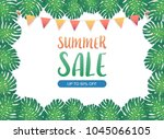 summer sale background banner ... | Shutterstock .eps vector #1045066105